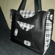sac besace urbain décalé stylé noir 3 quart
